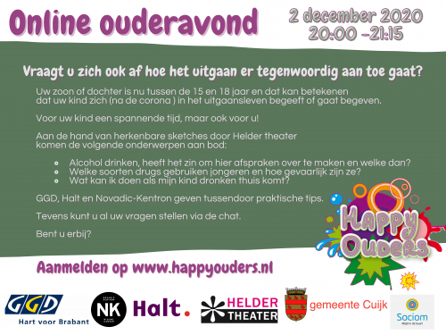 Online ouderavond Happy Ouders